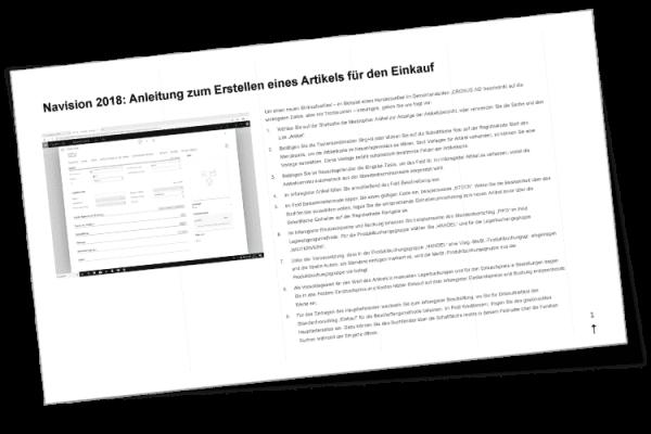 Prozessdokumentation manuell